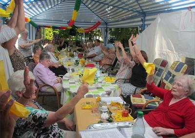 Eine Momentaufnahme vom Sommerfest